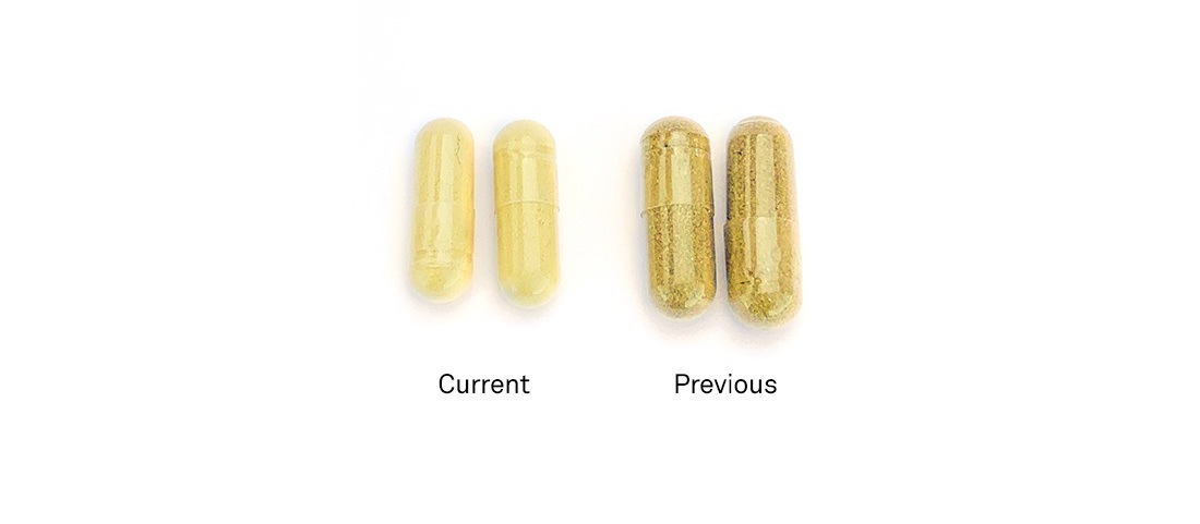 Calm Cp Current Vs Previous Capsules