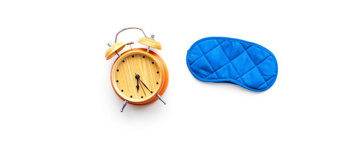 Sleep mask clock